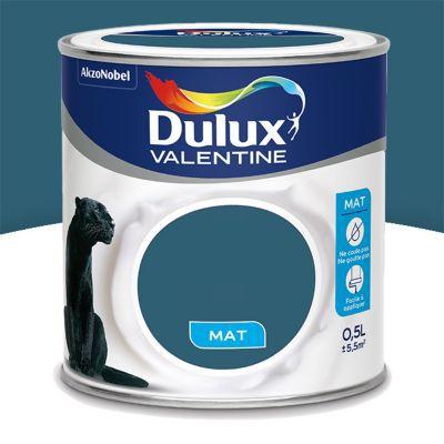 Peinture murs et boiseries dulux valentine cr me de for Bleu paon dulux