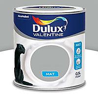 Peinture murs et boiseries Dulux Valentine Crème de couleur gris alpaga mat 0,5L