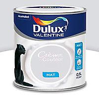 Peinture murs et boiseries Dulux Valentine Crème de couleur gris tendance mat 0,5L