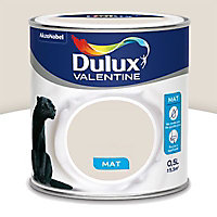 Peinture murs et boiseries Dulux Valentine Crème de couleur lin clair mat 0,5L