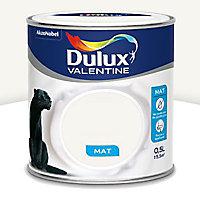 Peinture murs et boiseries DULUX VALENTINE Crème de couleur page blanche mat 0,5L
