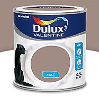 Peinture murs et boiseries Dulux Valentine Crème de couleur taupe mat 0,5L