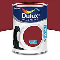 Peinture murs et boiseries Dulux Valentine Crème de couleur rouge glamour mat 1,25L