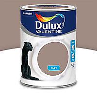 Peinture murs et boiseries Dulux Valentine Crème de couleur taupe mat 1,25L