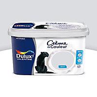 Peinture murs et boiseries Dulux Valentine Crème de couleur gris tendance mat 2,5L