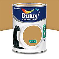 Peinture murs et boiseries Dulux Valentine Crème de couleur ocre doré satin 1,25L