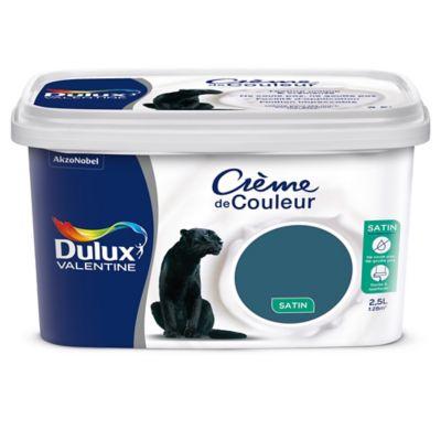 Peinture Murs Et Boiseries Dulux Valentine Crème De Couleur Bleu Paon Satin 2 5l Castorama