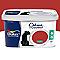 Peinture murs et boiseries Dulux Valentine Crème de couleur rouge madras satin 2,5L