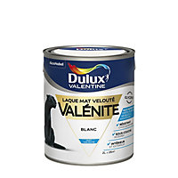 Laque Valénite Dulux Valentine Blanc mat velouté 2L