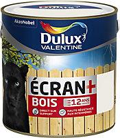 Peinture bois extérieur Dulux Valentine Ecran+ blanc satin 2L