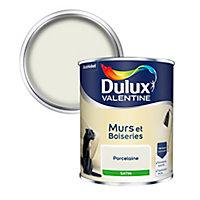 Peinture murs et boiseries Dulux Valentine porcelaine satin 0,75L