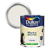 Peinture murs et boiseries Dulux Valentine colombe satin 0,75L