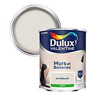 Peinture murs et boiseries Dulux Valentine lin naturel satin 0,75L