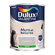 Peinture murs et boiseries Dulux Valentine taupe clair satin 0,75L