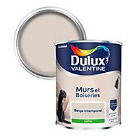 Peinture murs et boiseries Dulux Valentine beige intemporel satin 0,75L