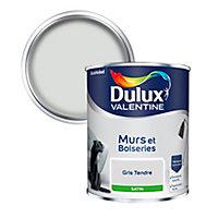 Peinture murs et boiseries Dulux Valentine gris tendre satin 0,75L