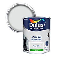 Peinture murs et boiseries Dulux Valentine perle grise satin 0,75L