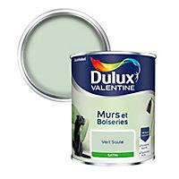 Peinture murs et boiseries Dulux Valentine vert saule satin 0,75L