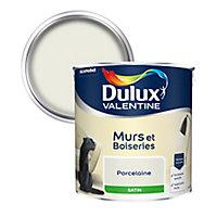 Peinture murs et boiseries Dulux Valentine porcelaine satin 2,5L