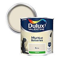 Peinture murs et boiseries Dulux Valentine écru satin 2,5L