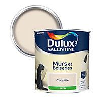 Peinture murs et boiseries Dulux Valentine coquille satin 2,5L