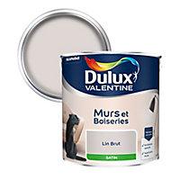 Peinture murs et boiseries Dulux Valentine lin brut satin 2,5L