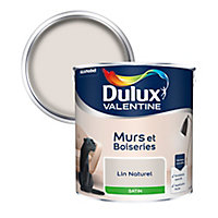 Peinture murs et boiseries Dulux Valentine lin naturel satin 2,5L