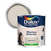 Peinture murs et boiseries Dulux Valentine galet clair satin 2,5L