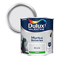 Peinture murs et boiseries Dulux Valentine brume satin 2,5L