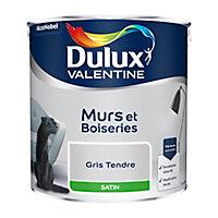 Peinture murs et boiseries Dulux Valentine gris tendre satin 2,5L