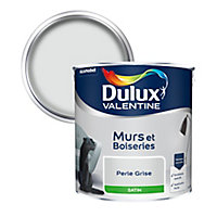 Peinture murs et boiseries Dulux Valentine perle grise satin 2,5L