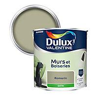 Peinture murs et boiseries Dulux Valentine romarin satin 2,5L