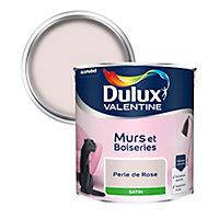Peinture murs et boiseries Dulux Valentine perle de rose satin 2,5L