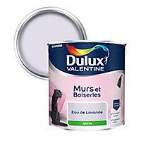 Peinture murs et boiseries Dulux Valentine eau lavande satin 2,5L