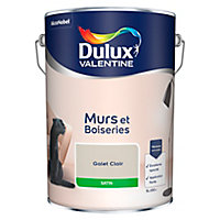 Peinture murs et boiseries Dulux Valentine galet clair satin 5L