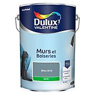 Peinture murs et boiseries Dulux Valentine bleu gris satin 5L