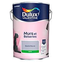 Peinture murs et boiseries Dulux Valentine quartz mauve satin 5L