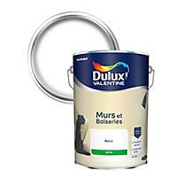 Peinture murs et boiseries Dulux Valentine blanc satin 5L
