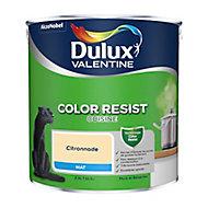 Peinture cuisine Dulux Valentine citronade mat 2,5L