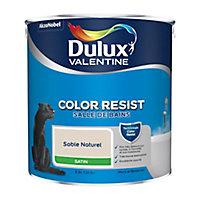 Peinture salle de bain Dulux Valentine sable naturel satin 2,5L