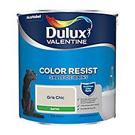 Peinture salle de bain Dulux Valentine gris chic satin 2,5L
