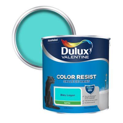Peinture salle de bain Dulux Valentine bleu lagon satin 2,5L ...
