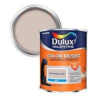 Peinture murs et boiseries Dulux Valentine Color Resist chocolat au lait mat 0,75L