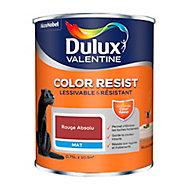 Peinture murs et boiseries Dulux Valentine Color Resist rouge absolu mat 0,75L