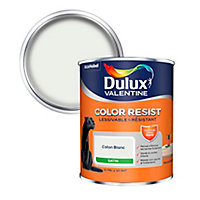Peinture murs et boiseries Dulux Valentine Color Resist coton blanc satin 0,75L