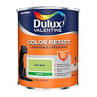 Peinture murs et boiseries Dulux Valentine Color Resist vert kiwi satin 0,75L