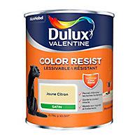 Peinture murs et boiseries Dulux Valentine Color Resist jaune citron satin 0,75L