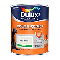 Peinture murs et boiseries Dulux Valentine Color Resist porcelaine satin 0,75L