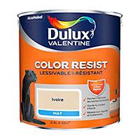 Peinture murs et boiseries Dulux Valentine Color Resist ivoire mat 2,5L