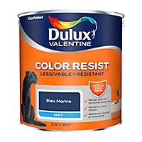 Peinture murs et boiseries Dulux Valentine Color Resist bleu marine mat 2,5L
